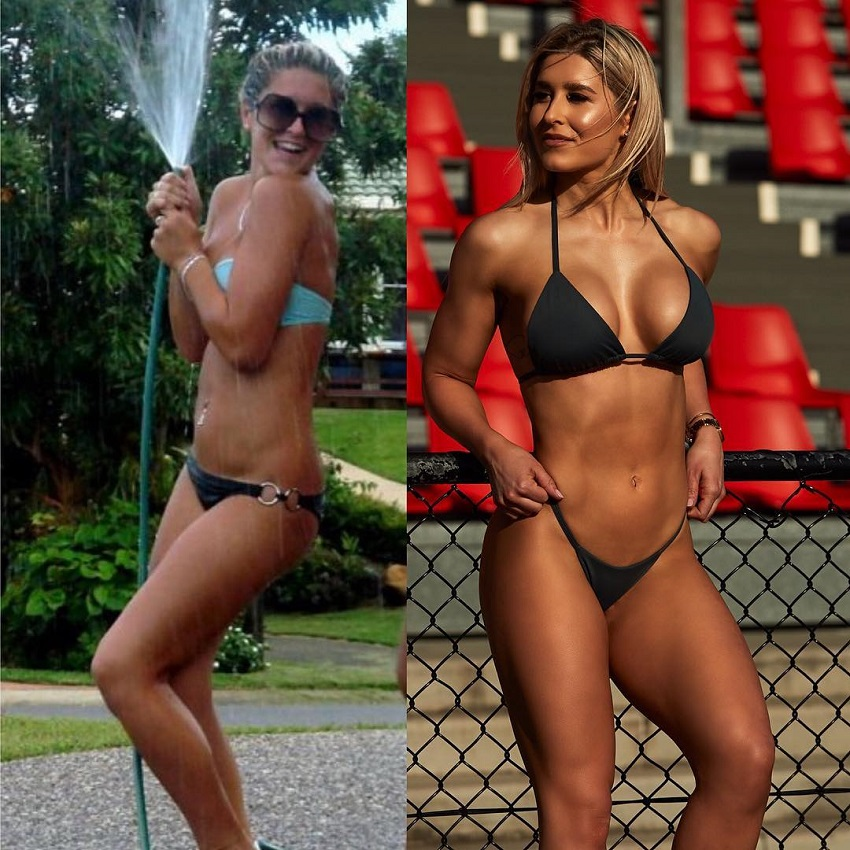 Julia Woodford body transformation before and after fitness