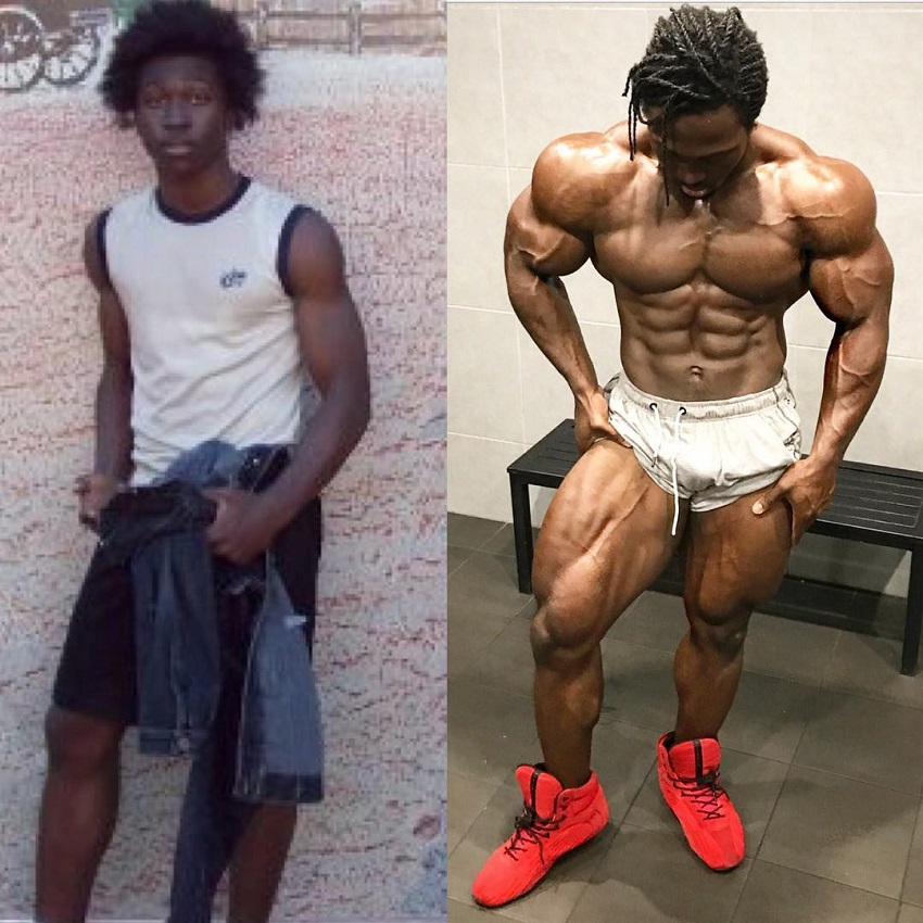 Kwame Duah bodybuilding transformation before-after