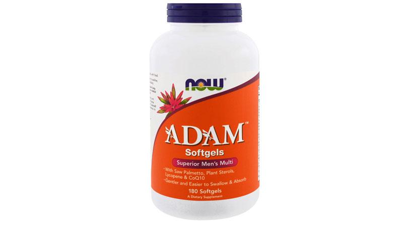 Bottle of NOW Adam Softgels Superior Men's Muiltivitamin