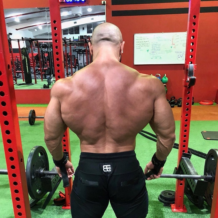 Basem Altakrity showcasing his wide and muscular back