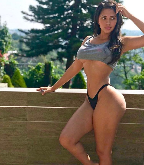 Ana Paula Saenz posing outdoors looking fit and lean