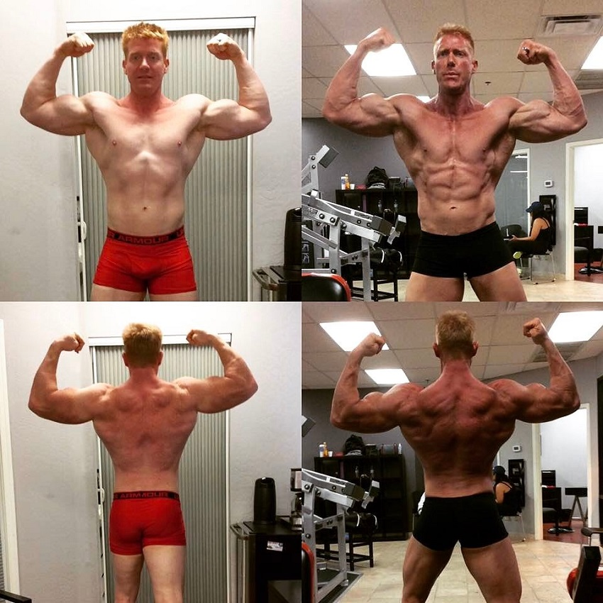 Brandon Budlong bulking and cutting transformation, before-after