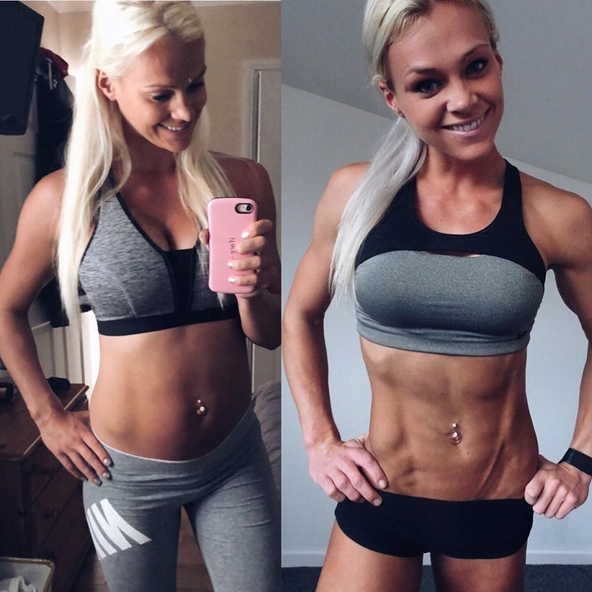 Sarah Holden fitness transformation before-after