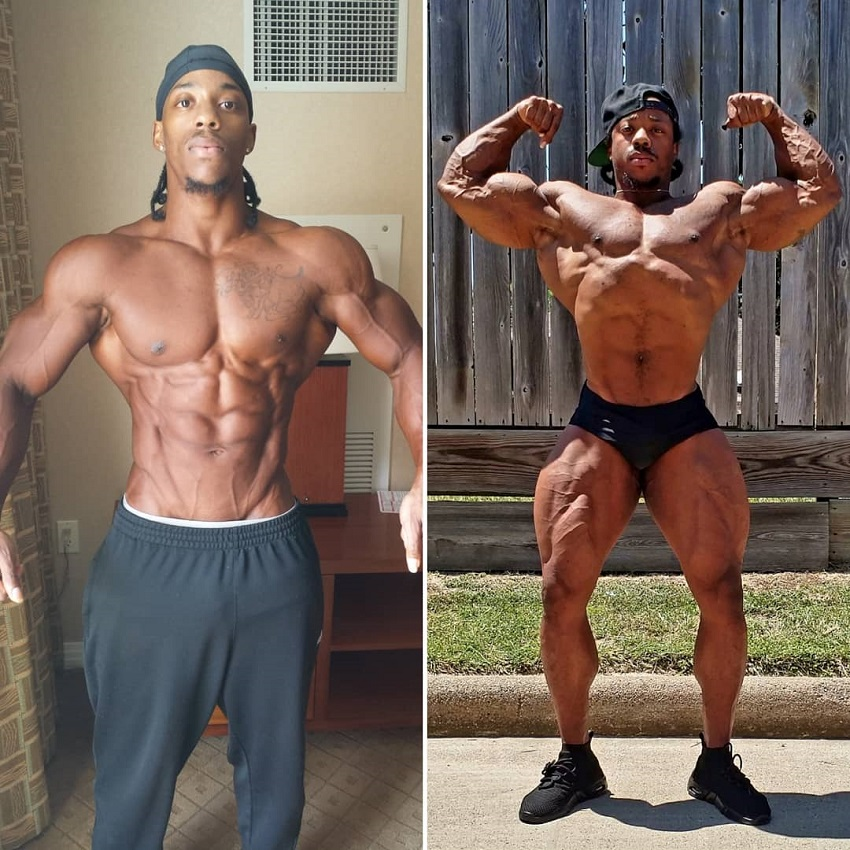 Rickey Moten's transformation from Men's Physique to Classic Physique.