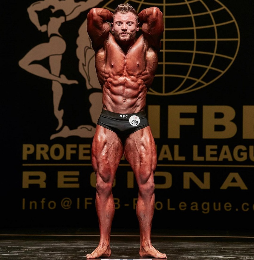 Luke Hulme flexing most muscular