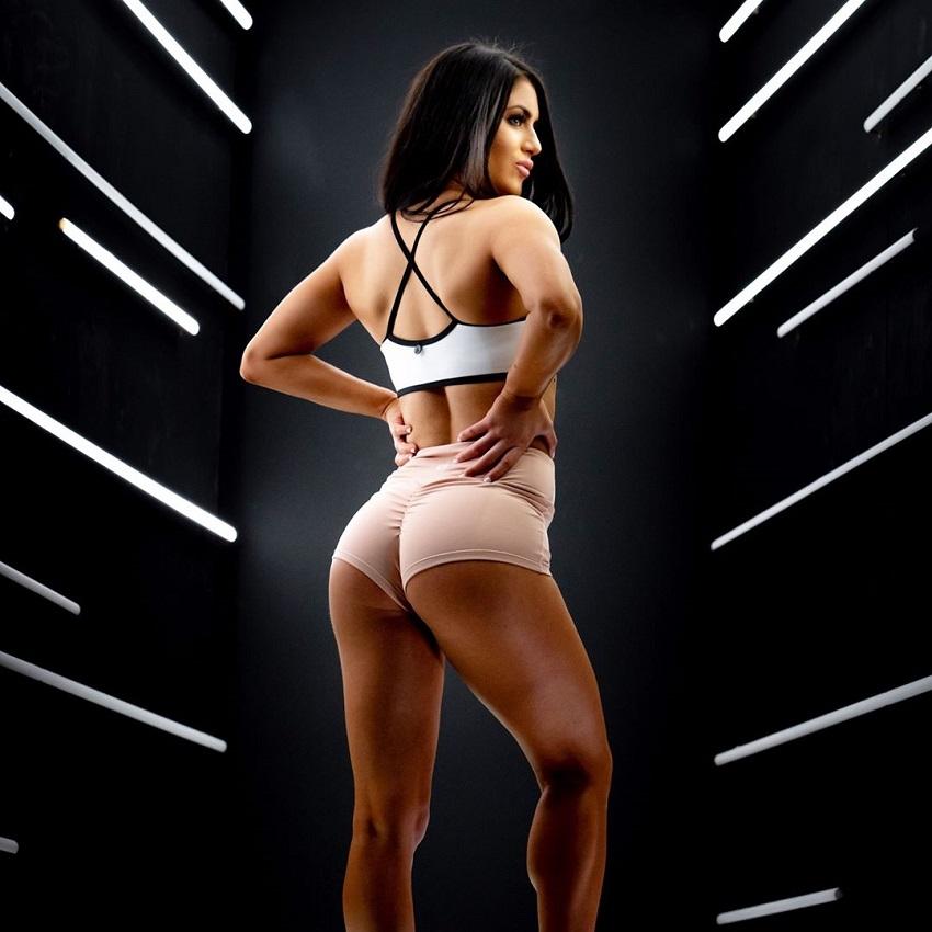 Tia Christofi showing off her lean figure