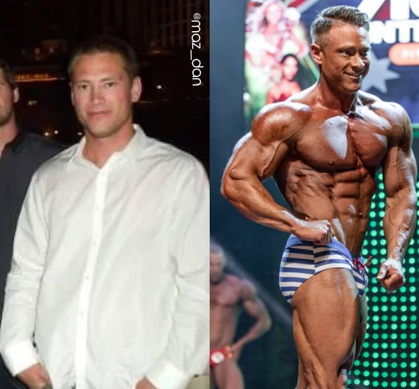 Dan Mazzola's fitness transformation before-after