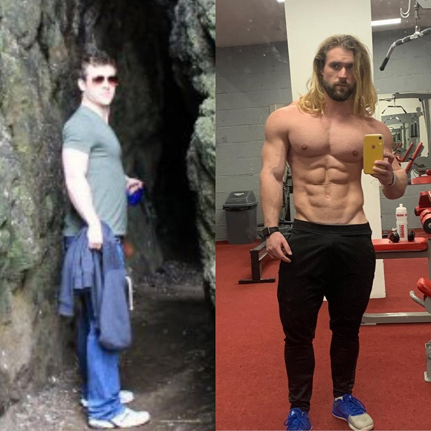 Ben Mudge transformation before-after
