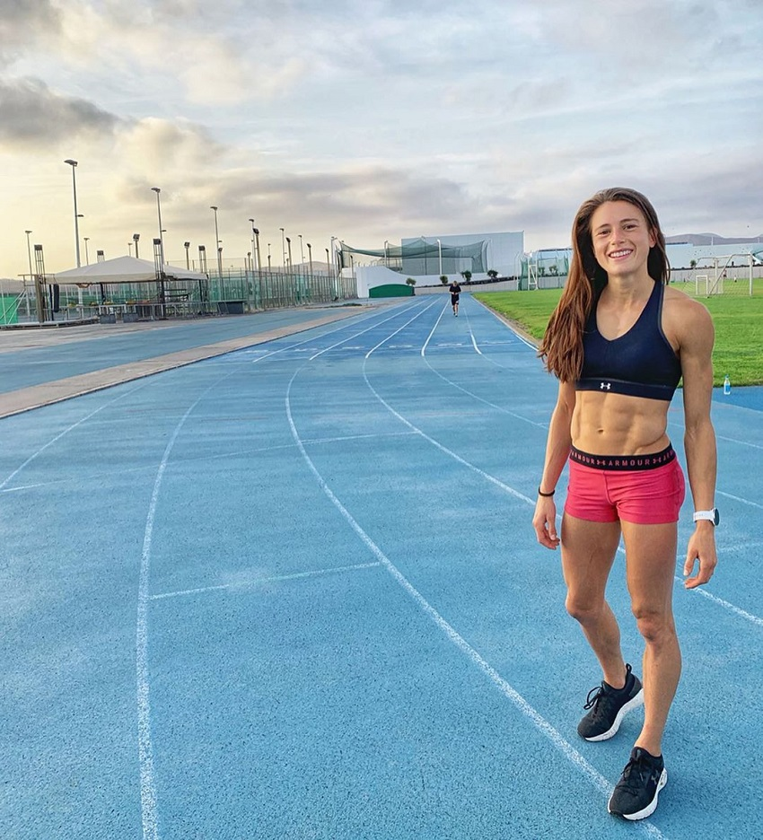 Imke Salander on the track field