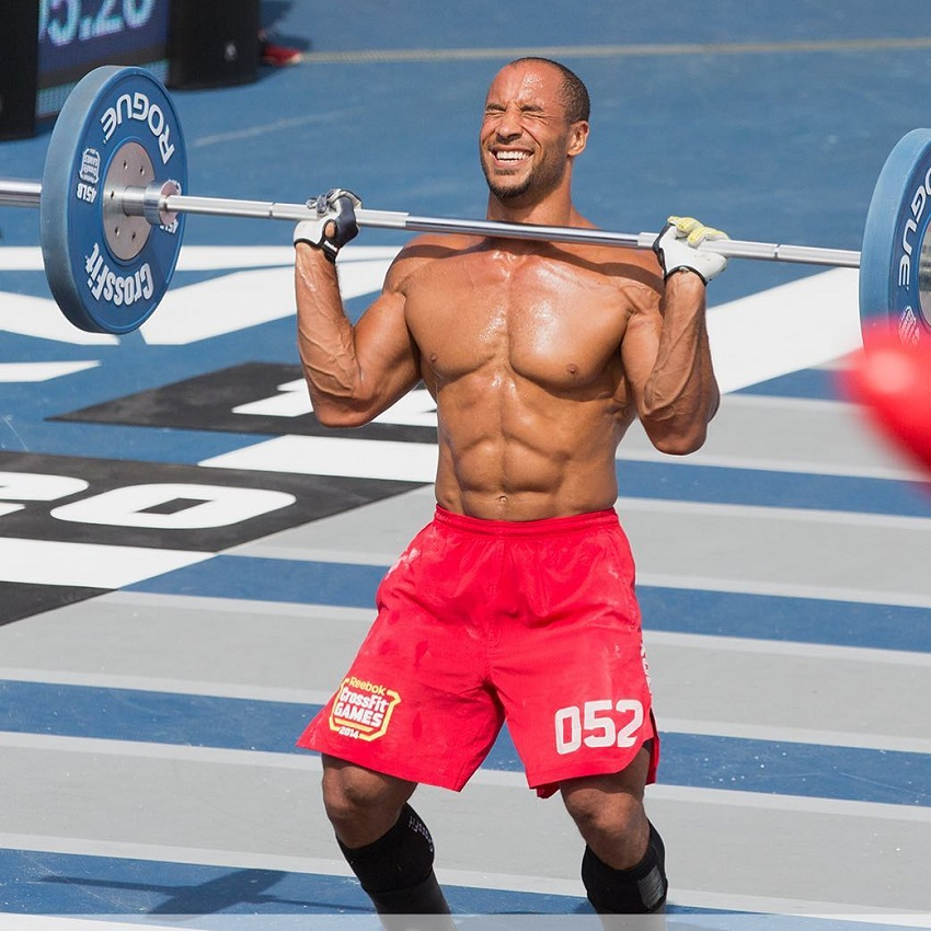 Neal Maddox training outdoors in CrossFit Games