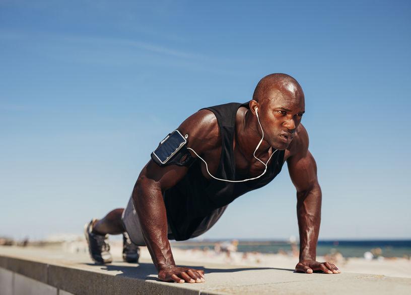 Bodyweight pushups for strength training