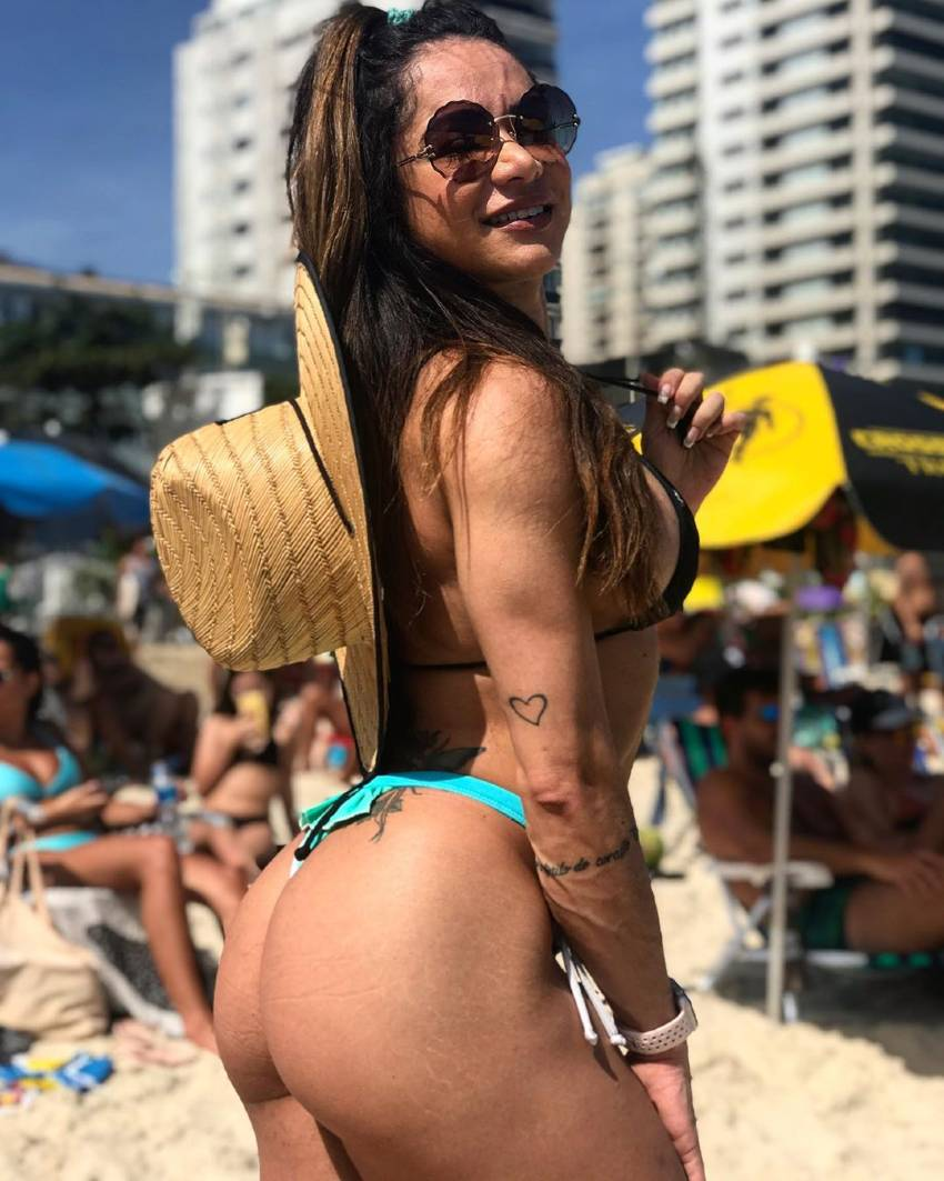 Susana Rodriguez showing off her fit and curvy glutes on the beach
