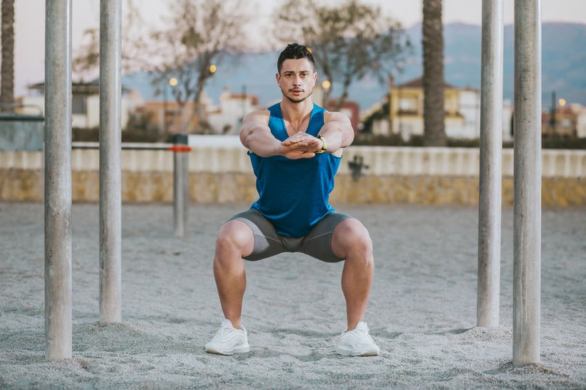 bodyweight squat - strength training for beginners