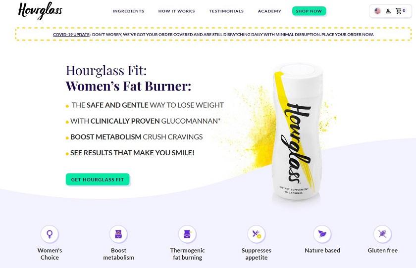 Hourglass Fit Website